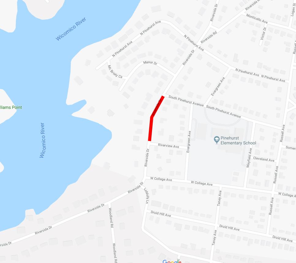 Traffic Advisory: Roadway improvement, Riverside Dr  - City